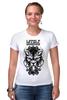 "Футболка Стрэйч ""Lycanthrope"" - арт, мандала, волк, оборотень, wolf, werewolf, вензель, mandala"