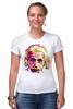 "Футболка Стрэйч (Женская) ""Альберт Эйнштейн (Albert Einstein)"" - albert einstein, физика, полигоны, polygons, альберт эйнштейн"