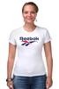 """Футболка Стрэйч (Женская) """"Reebok"""" - спорт, спортсмен, sports, reebok, рибок"""
