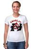 """Футболка Стрэйч (Женская) """"Punks Not Dead"""" - панк, anarchy, анархия, панк рок, punks not dead"""