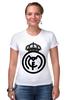"Футболка Стрэйч (Женская) ""Real Madrid (Реал Мадрид) "" - футбол, football, real madrid, реал мадрид"