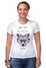 """Футболка Стрэйч """"Лиса в очках"""" - очки, fox, лиса"""