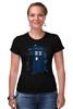 """Футболка Стрэйч (Женская) """"Тардис"""" - doctor who, доктор кто, тардис, police box"""