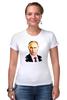 "Футболка Стрэйч ""Владимир Путин"" - россия, russia, путин, президент, putin"