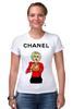 "Футболка Стрэйч (Женская) ""Chanel"" - прикол, юмор, духи, fashion, шанель, perfume"
