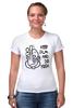 """Футболка Стрэйч (Женская) """"Keep Calm & Do Yoga"""" - йога, слон, om, ом, ganesh, keep calm, ганеша, успех, индуизм, yoga"""