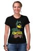 """Футболка Стрэйч (Женская) """"Контроль"""" - комиксы, batman, супергерои, бэтмен, dc comics"""