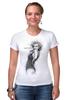 """Футболка Стрэйч (Женская) """"Marilyn Monroe"""" - актриса, marilyn monroe, мерилин монро, фотомодель, в джазе только девушки"""