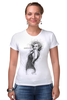 "Футболка Стрэйч ""Marilyn Monroe"" - актриса, marilyn monroe, мерилин монро, фотомодель, в джазе только девушки"