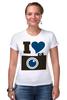 """Футболка Стрэйч """"Я люблю Фото (Селфи)"""" - foto, фотоаппарат, селфи, selfie, фотки"""
