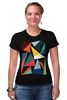 """Футболка Стрэйч (Женская) """"Треугольники"""" - арт, абстракция, фигуры, треугольники"""