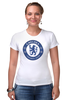 "Футболка Стрэйч (Женская) ""Chelsea FC"" - футбол, челси, chelsea"