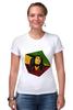 "Футболка Стрэйч ""Bob Marley"" - регги, ямайка, боб марли, bob marley, reggae, боб, ска, марли"