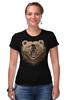 """Футболка Стрэйч (Женская) """"Пиксельный Медведь"""" - bear, медведь, pixel art, пиксели, 8 бит"""