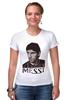 "Футболка Стрэйч ""messi"" - футбол, спорт, barcelona, messi, месси, lionel messi, барселона, лео, barca"