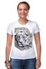 """Футболка Стрэйч """"любовь"""" - лев, lion, lioness"""