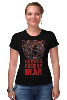 """Футболка Стрэйч """"Animal Art"""" - животные, bear, медведь, animal, арт дизайн"""