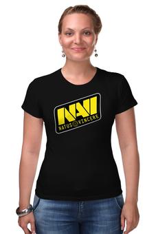 "Футболка Стрэйч ""Natus Vincere Logo (Black)"" - игры, dota, dota 2, navi, natus vincere, дота, edward, киберспорт, dendi, markeloff"