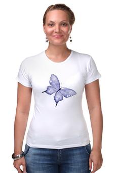 "Футболка Стрэйч ""бабочки"" - футболка женская"