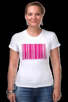 "Футболка Стрэйч (Женская) ""Priceless"" - barcode"