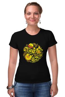 """Футболка Стрэйч """"узоры"""" - футболка женская"""