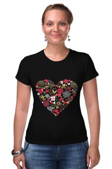 """Футболка Стрэйч """"Валентинка"""" - валентинка, сердце, губы, любовь"""