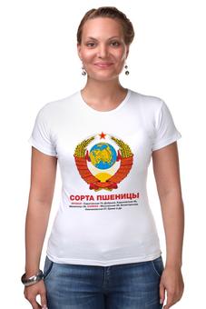 "Футболка Стрэйч ""Герб CCCР"" - шутка, советский союз, совок, герб ссср, совдеп"