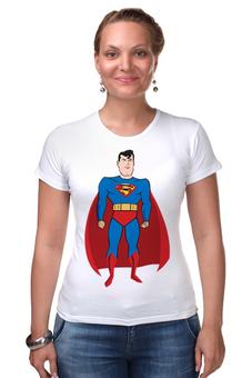 "Футболка Стрэйч ""Супермен (Superman)"" - супермен, superman, супергерой, dc"