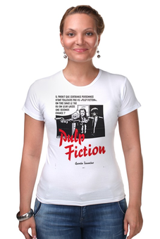"Футболка Стрэйч ""Pulp Fiction"" - винтаж, tarantino, тарантино, криминальное чтиво, pulp fiction"