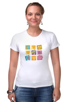 """Футболка Стрэйч (Женская) """"""""Love"""""""" - женсие футболки"""