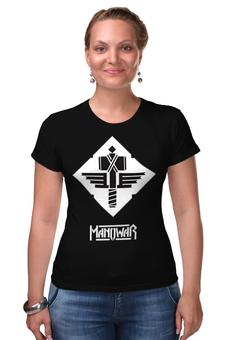 "Футболка Стрэйч ""Manowar Band"" - heavy metal, рок музыка, хэви метал, manowar, мановар"