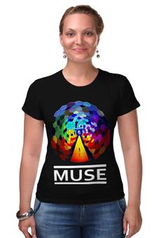 """Футболка Стрэйч (Женская) """"MUSE! Resistance """" - рок, muse, для фанатов, мьюз, для мьюзеров"""