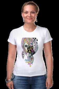 """Футболка Стрэйч (Женская) """"funny"""" - арт, стиль, популярные, funny, оригинально, футболка женская, magic, color, креативно, ekshop"""