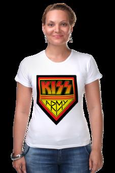 "Футболка Стрэйч ""Kiss Army"" - kiss, kiss army, кисс"
