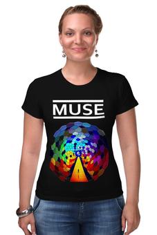"""Футболка Стрэйч (Женская) """"MUSE! Resistance"""" - рок, muse, для фанатов, мьюз, для мьюзеров"""