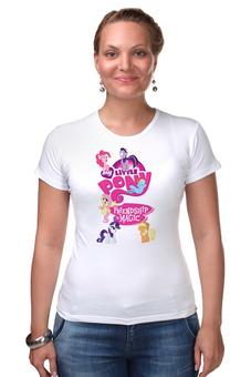 "Футболка Стрэйч ""My Little Pony: Friendship is Magic Logo"" - rainbow dash, my little pony, applejack, rarity, friendship is magic, fluttershy, twilight sparkle, pinkie pie"