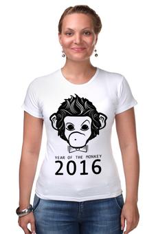 """Футболка Стрэйч """"Год Обезьяны"""" - новый год, обезьяна, monkey, 2016, год обезьяны"""