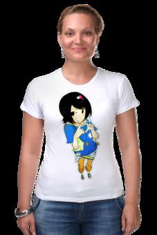 """Футболка Стрэйч """"Анимешка"""" - девушка, женская, аниме, an1"""