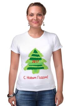 """Футболка Стрэйч """"С Новым Годом! 2017"""" - новый год, подарки, ёлка, 2017, новый год 2017"""