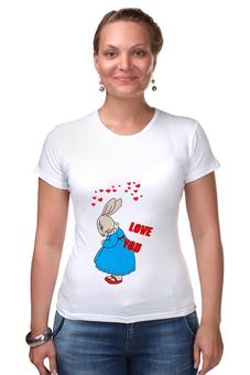 """Футболка Стрэйч (Женская) """"Rabbit_woman"""" - fun, nice"""