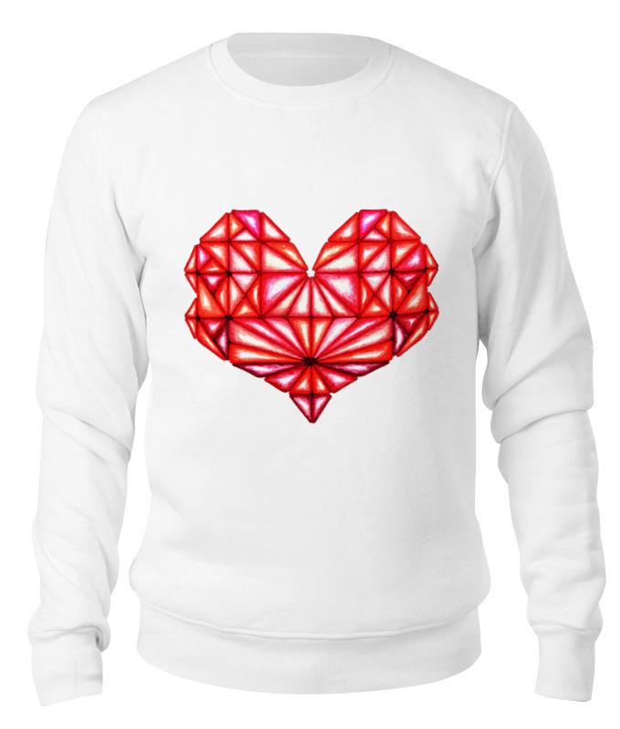 Свитшот унисекс хлопковый Printio Сердце геометрическое оттенки красного цена 2017