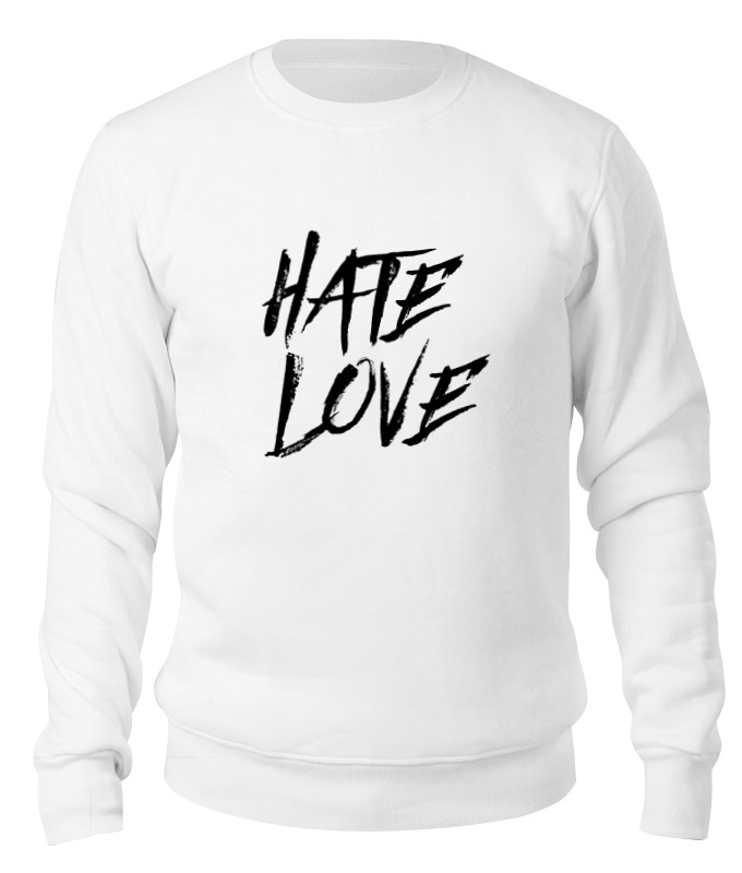 Свитшот унисекс хлопковый Printio Рэпер face hate love кепка printio рэпер face hate love