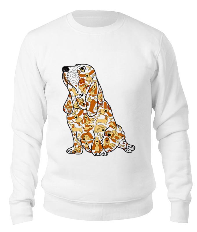 Свитшот унисекс хлопковый Printio Смешная собака бассет купить щенкак в донецке бассет