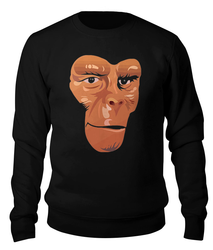 Свитшот унисекс хлопковый Printio Обезьяна (планета обезьян) детская футболка классическая унисекс printio обезьяна планета обезьян