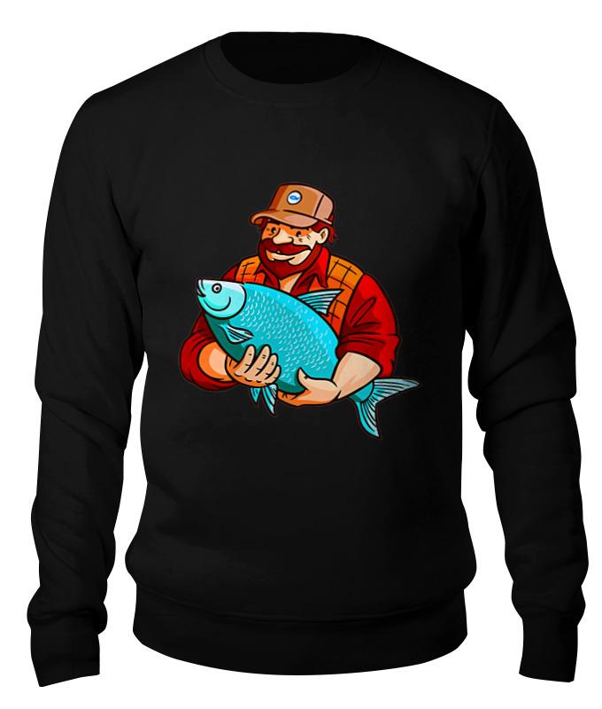 Свитшот унисекс хлопковый Printio Рыбалка лонгслив printio рыбалка зовет