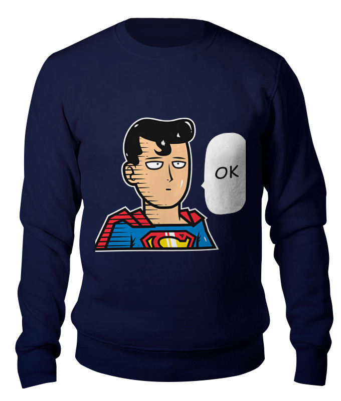 Свитшот унисекс хлопковый Printio Сайтама-супермен цены онлайн