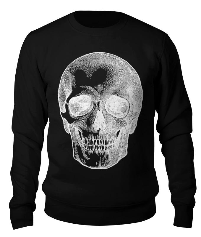 Свитшот унисекс хлопковый Printio Skull (dollar) цена