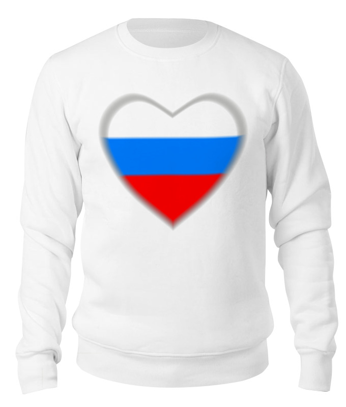 Свитшот унисекс хлопковый Printio Россия в сердце свитшот унисекс хлопковый printio сердце в кубе