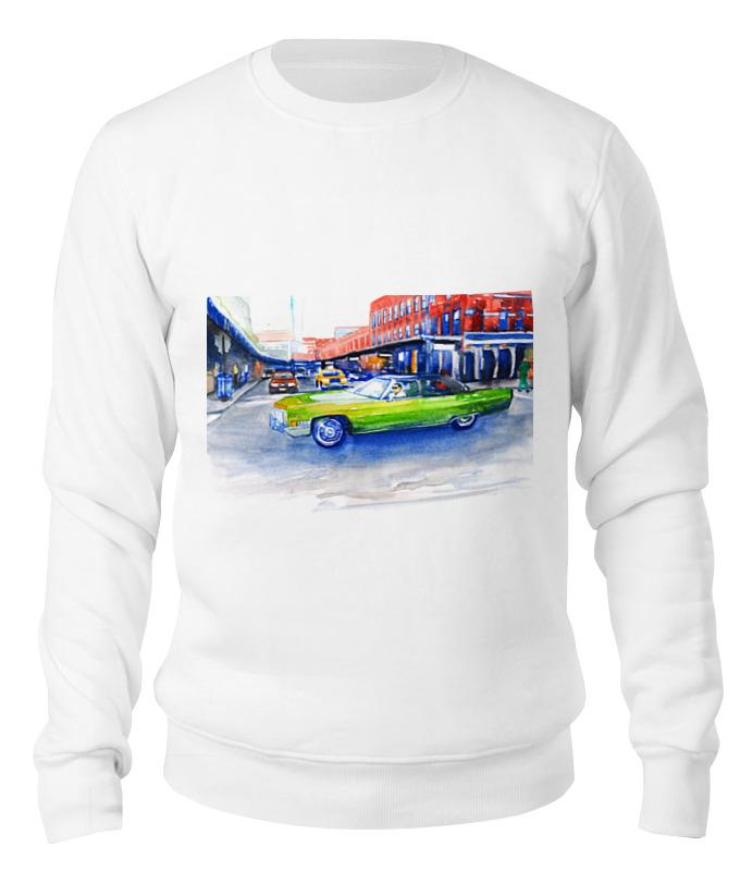 Свитшот унисекс хлопковый Printio Крутая машина на 14-ой улице нью йорка пазл clementoni trittico 3х500 эл легенды нью йорка 39305