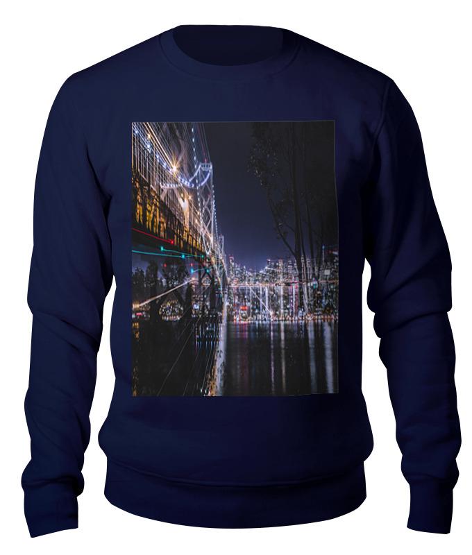 Свитшот унисекс хлопковый Printio Ночной мост. диодный мост для мазда 6 а2тj0391в